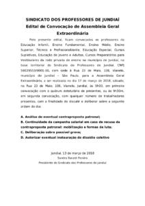 Edital - Assembleia de 17 de março - Ed Básica e Ens superior