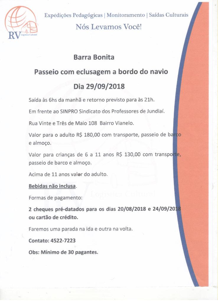 Cultura e Lazer - Barra Bonita